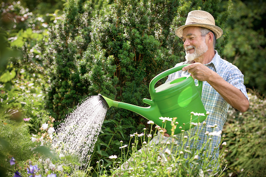 When you sell a watering can, you can how someone using it.