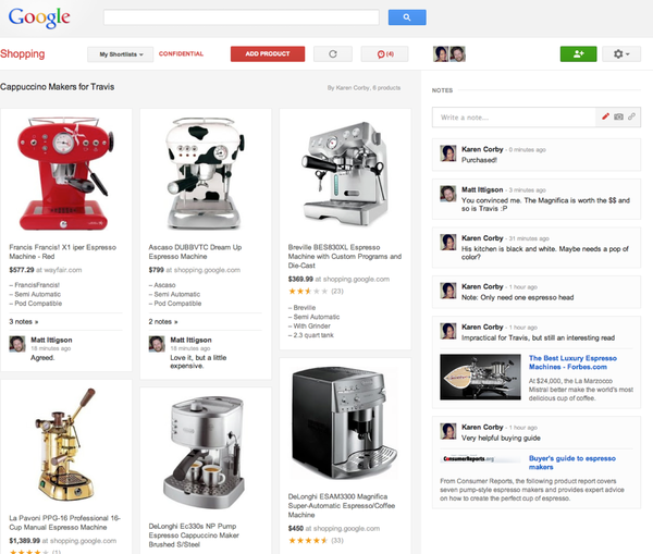 Simple Google Shoppings