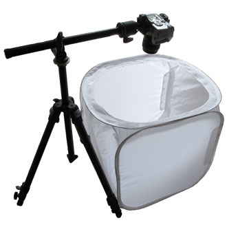 Tripod for product photography.