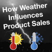 How weather influences product sales