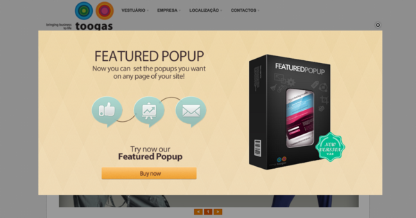 Toogas Featured Popup