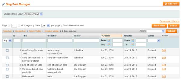 Blog Post Manager