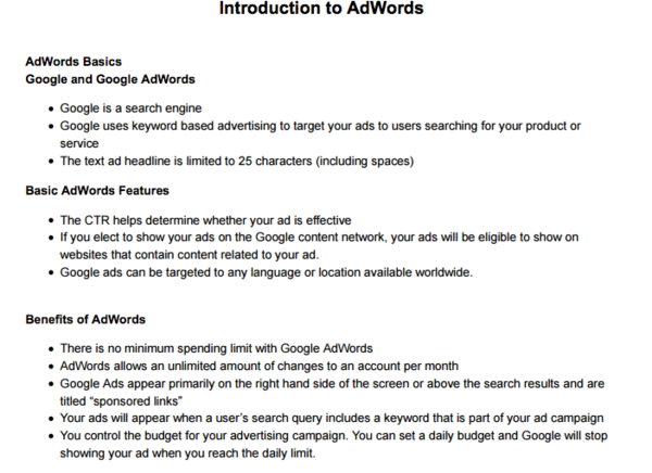 Complete guide to google adwords certification tips tricks heres a perfect way to refresh your knowledge this study guide lists out all you need to know in a bulleted format fandeluxe Gallery