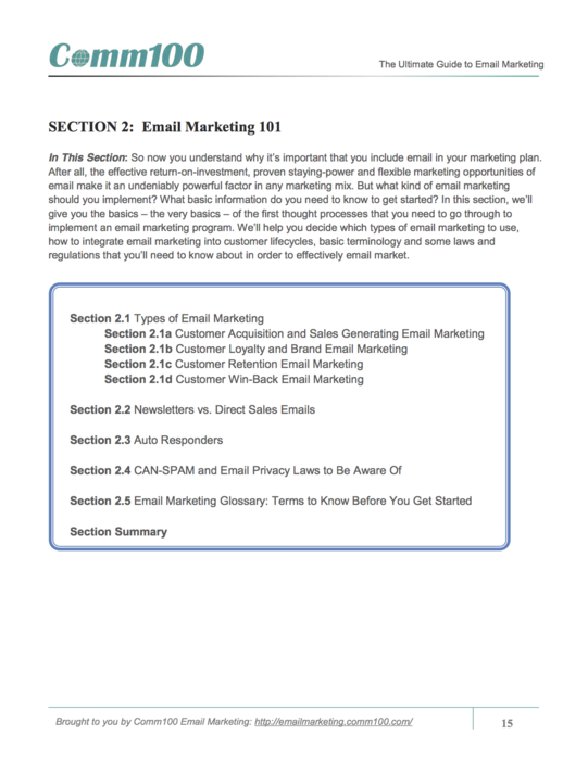 Free eBook: The Ultimate Guide To Email Marketing by Comm100