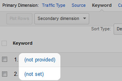 """Not set"" en ""Not provided"" in Google Analytics"
